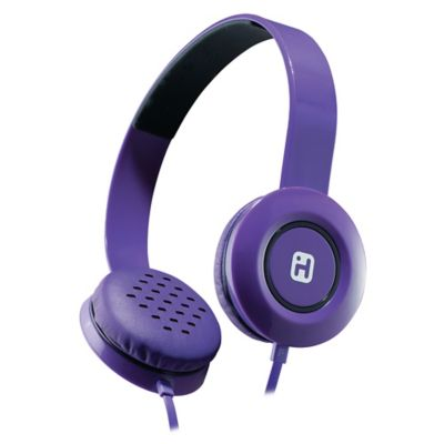 iHome® Stereo Headphones with Flat Cable in Purple