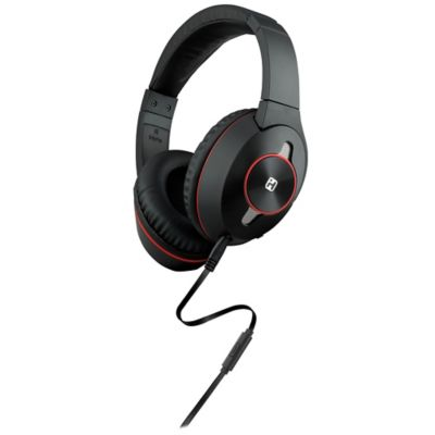iHome® Active Noise Cancelling Over-the-Ear Headphones in Black/Red