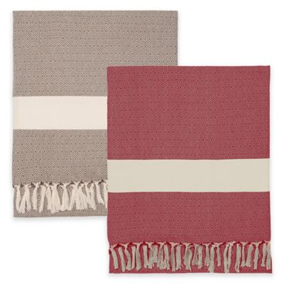 Red Cotton Throw Blankets