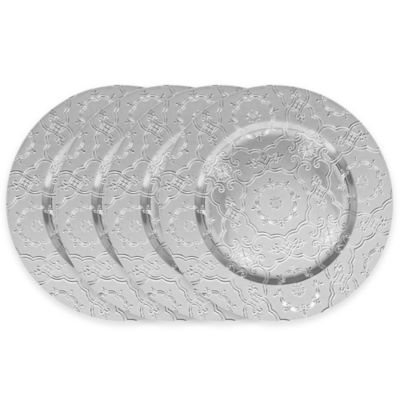 ChargeIt! by Jay Vintage Charger Plates in Silver (Set of 4)