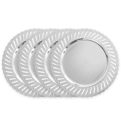 ChargeIt! by Jay Track Charger Plates in Silver (Set of 4)