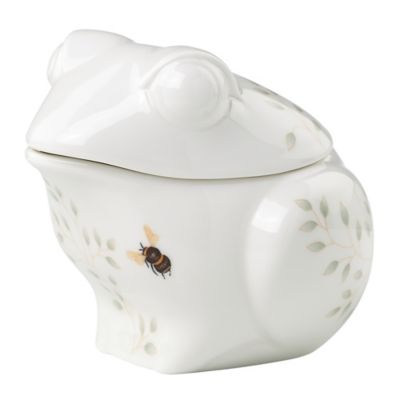 Lenox® Butterfly Meadow® Figural Frog Covered Sugar Bowl