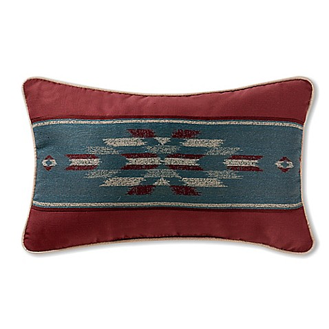 Throw Pillows Meaning : Buy Remington Lodge Cabot Oblong Throw Pillow in Red from Bed Bath & Beyond