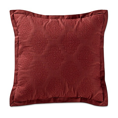 Red Throw Pillow For Bed : Remington Lodge Cabot Quilted Medallion Square Throw Pillow in Red - Bed Bath & Beyond