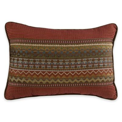 Croscill® Horizons Boudoir Throw Pillow in Red/Brown