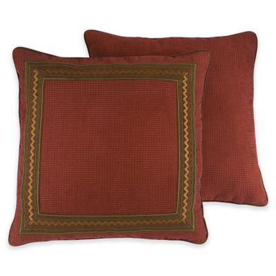 Croscill® Horizons European Pillow Sham in Red/Brown