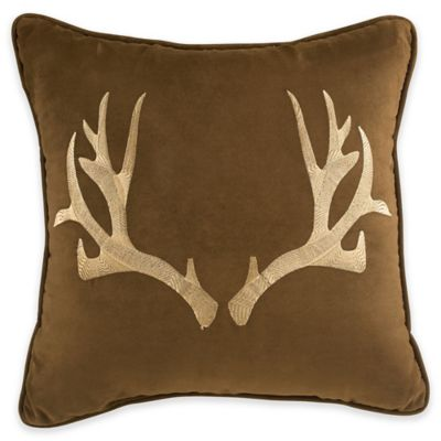 Croscill® Horizons Fashion Square Throw Pillow in Brown