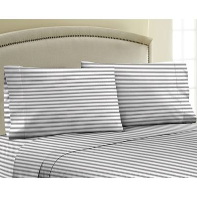 Striped Sateen Cotton Sheets