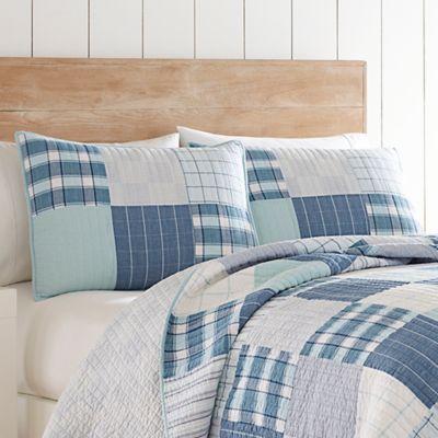 Nautica® Aldrin Quilt Standard Pillow Sham in Bright Blue