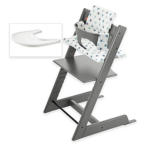 Stokke tripp trapp high chair complete bundle in storm for Chaise haute tripp trapp stokke