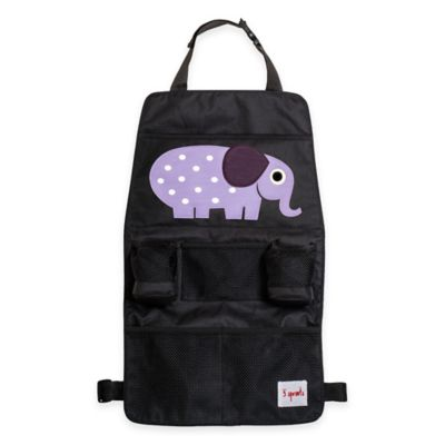 3 Sprouts Backseat Organizer in Purple Elephant