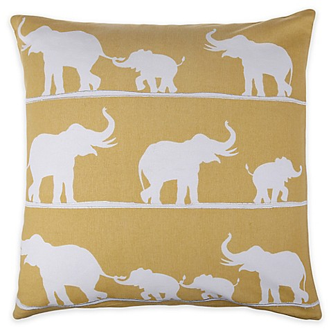 Elephant Throw Pillow Bed Bath And Beyond : Selma Elephant Throw Pillow in Yellow - Bed Bath & Beyond