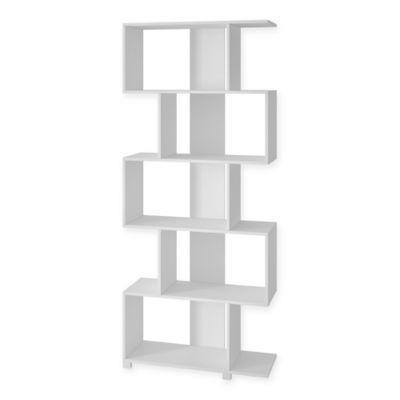 Manhattan Comfort Petrolina Z-Shelf in White