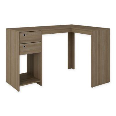 Manhattan Comfort Palermo Desk in Oak