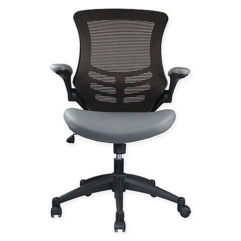 Manhattan Comfort Intrepid High Back Office Chair In Brown Grey