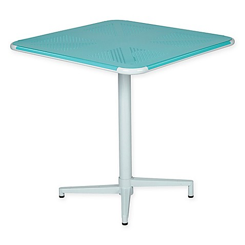 buy office star products albany 30 inch square folding table in teal