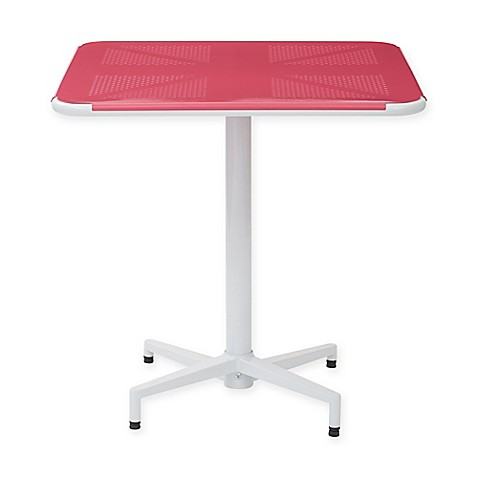 buy office star products albany 30 inch square folding table in pink