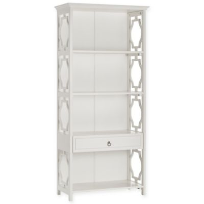 Verona Home Bolsena Bookshelf with Drawer in White