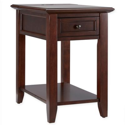 Verona Home Darbey Hidden Outlet Accent Table in Espresso