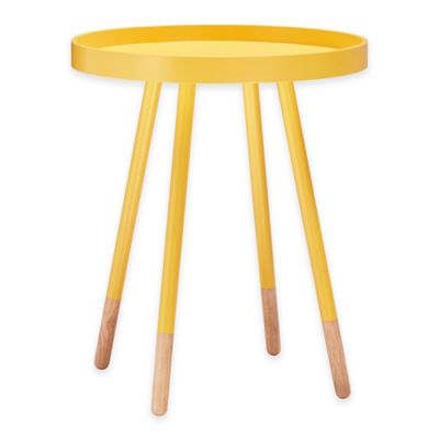 Verona Home Darley Mid-Century Tray Top Accent Table in Yellow