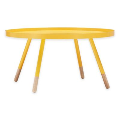 Verona Home Darley Cocktail Table in Yellow