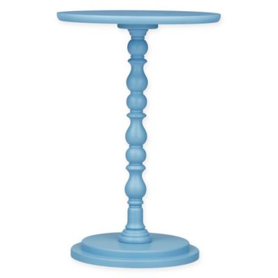 Verona Home Sonora Pedestal Accent Table in Blue