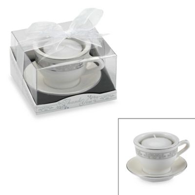 Kate Aspen® Teacups and Tealights Miniature Porcelain Tealight Holder