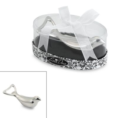 Kate Aspen® Love Dove Silver Chrome Bottle Opener in Oval Showcase Giftbox