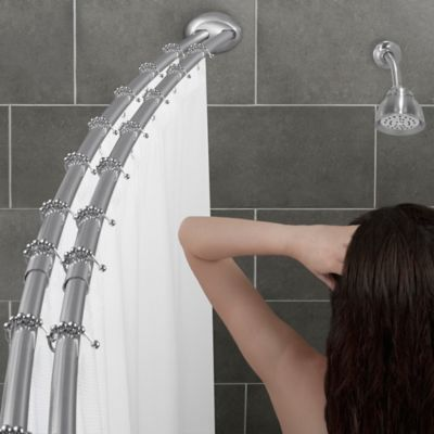 Alumia™ Double Curved Shower Rod in Chrome
