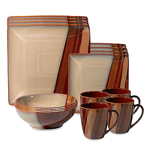 Sango Avanti Brown 16 Piece Dinnerware Set Bed Bath Amp Beyond