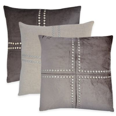 Cleo Throw Pillow in Charcoal