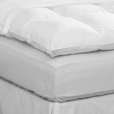Pacific Coast™ Queen Featherbed Protector in White