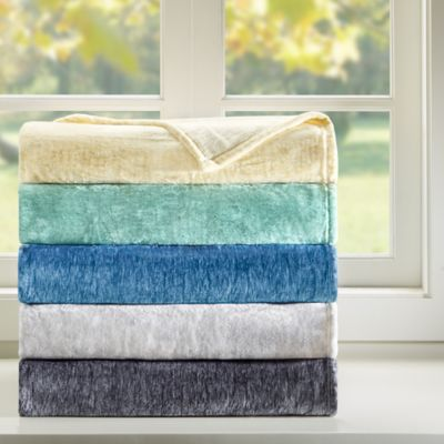 Intelligent Design Twin Melange Plush Blanket in Yellow