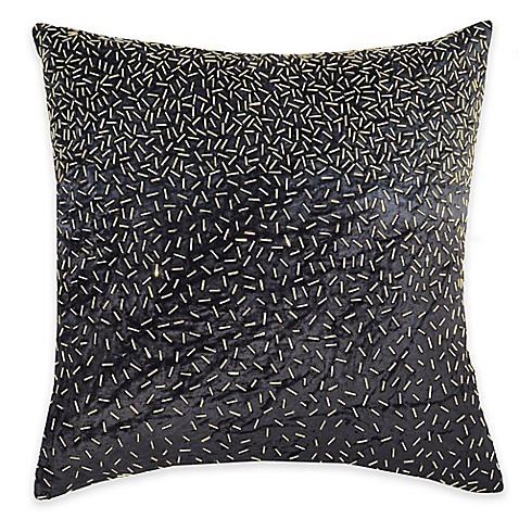 Beaded Grey Throw Pillow : Callisto Home Gold Beaded Avanti Square Throw Pillow in Grey - Bed Bath & Beyond