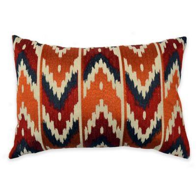 Callisto Home Multicolor Embroidered Mendoza Oblong Throw Pillow