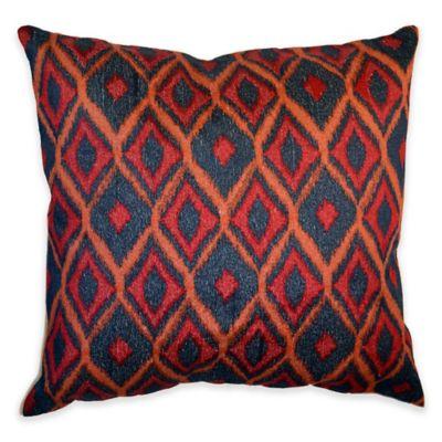 Callisto Home Multicolor Embroidered Mendoza Square Throw Pillow