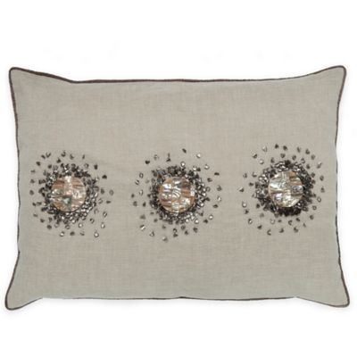 Callisto Home Mother of Pearl Accented Oblong Throw Pillow