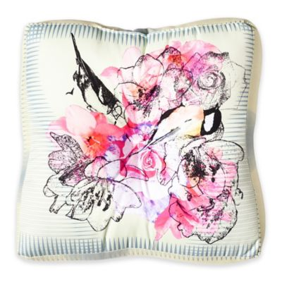 DENY Designs Bel Lefoose Design Birds and Flowers Square Floor Pillow