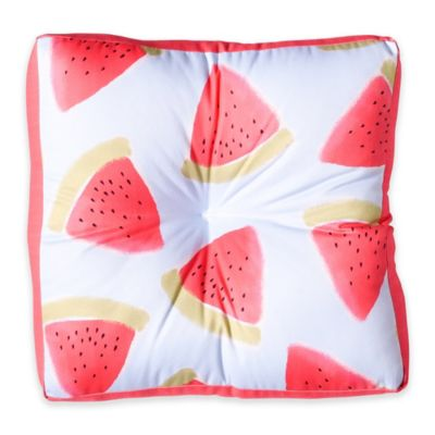DENY Designs Joy Laforme Watermelon Confetti Square Floor Pillow