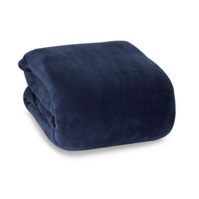 Berkshire Blanket® Indulgence Full/Queen Blanket in Navy