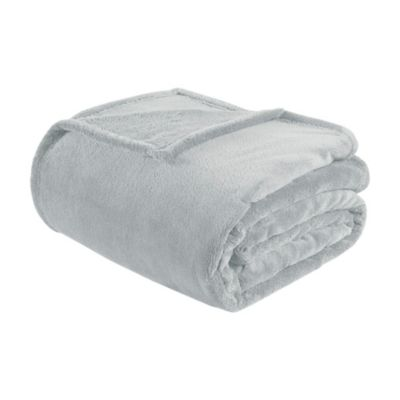 Intelligent Design Twin/Twin XL Microlight Plush Blanket in Grey