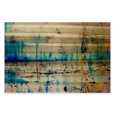 Parvez Taj Morrison Lake 36-Inch x 24-Inch Pine Wood Wall Art