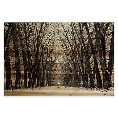 Parvez Taj Tree Path Pine Wood Wall Art Bed Bath Amp Beyond