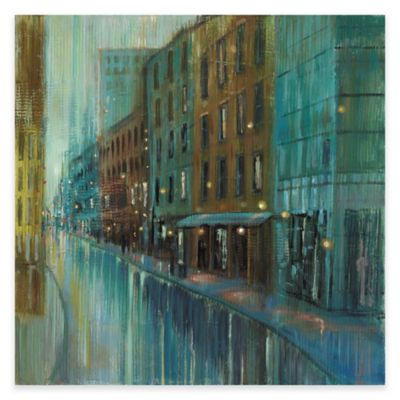 Marmont Hill Street Reflection 40-Inch x 40-Inch Canvas Wall Art