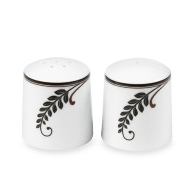 Brown White Salt and Pepper Shakers