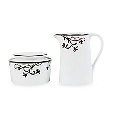 Mikasa® Cocoa Blossom Covered Sugar and Creamer