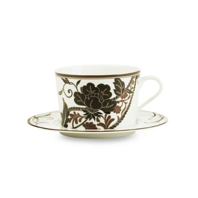 Mikasa® Cocoa Blossom Cappucino Cup and Saucer