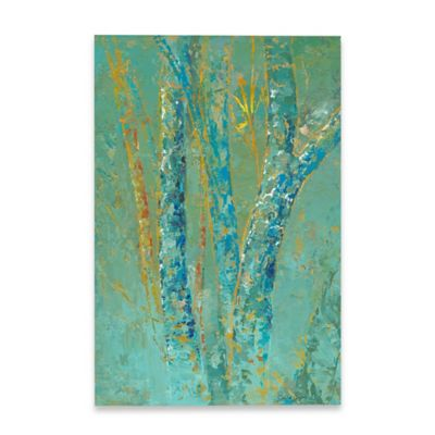 Marmont Hill Pine Tree Mist I 20-Inch x 30-Inch Canvas Wall Art