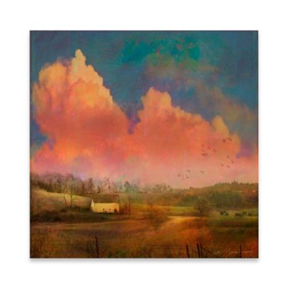 Marmont Hill 24-Inch x 24-Inch Pastoral Sunset Canvas Wall Art