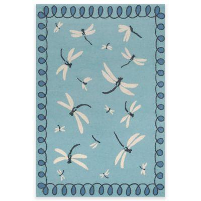 Trans-Ocean 8-Foot 3-Inch x 11-Foot 6-Inch Napa Dragonfly Indoor/Outdoor Area Rug in Blue